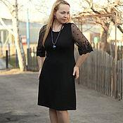 "Одежда handmade. Livemaster - original item Knit sheath dress ""Office - smart"". Handmade."