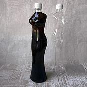 Материалы для творчества ручной работы. Ярмарка Мастеров - ручная работа Бутылка пластиковая силуэт девушки, прозрачная, творчество, декупаж. Handmade.
