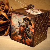 """Для дома и интерьера ручной работы. Ярмарка Мастеров - ручная работа Короб для хранения """"Загадочное путешествие"""". Handmade."""