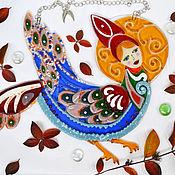 """Для дома и интерьера ручной работы. Ярмарка Мастеров - ручная работа Подвеска """"Райская птица"""". Handmade."""