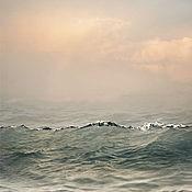 """Картины и панно ручной работы. Ярмарка Мастеров - ручная работа Фотокартины море для интерьера, фото Морской Пейзаж """"Теплый свет моря"""". Handmade."""