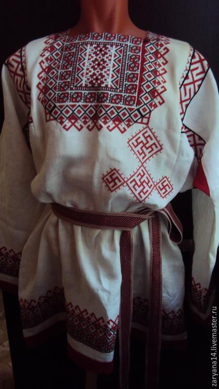 Одежда ручной работы. Ярмарка Мастеров - ручная работа. Купить Рубаха жениха (Урал). Handmade. Белый, традиционая рубаха