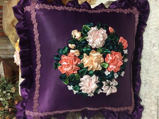 Текстиль, ковры ручной работы. Ярмарка Мастеров - ручная работа. Купить Подушка ручной работы. Handmade. Подушка декоративная, подушка