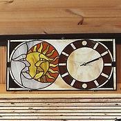 """Для дома и интерьера ручной работы. Ярмарка Мастеров - ручная работа Часы витражные """"День-Ночь"""". Handmade."""