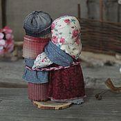 """Народная кукла ручной работы. Ярмарка Мастеров - ручная работа Куклы обереги неразлучники """"Малиновое счастье"""". Handmade."""