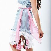 """Одежда ручной работы. Ярмарка Мастеров - ручная работа Шелковое платье """"Пионы"""". Handmade."""