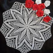 Для дома и интерьера ручной работы. Ярмарка Мастеров - ручная работа Салфетка ажурная крючком. Handmade.