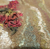 Одежда ручной работы. Ярмарка Мастеров - ручная работа Жилет шерстяной теплый валяный хаки болотный. Handmade.