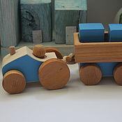 Техника, роботы, транспорт ручной работы. Ярмарка Мастеров - ручная работа Трактор с прицепом. Handmade.