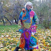 """Одежда ручной работы. Ярмарка Мастеров - ручная работа Пальто валяное """"Без улыбки не пройдет никто"""". Handmade."""