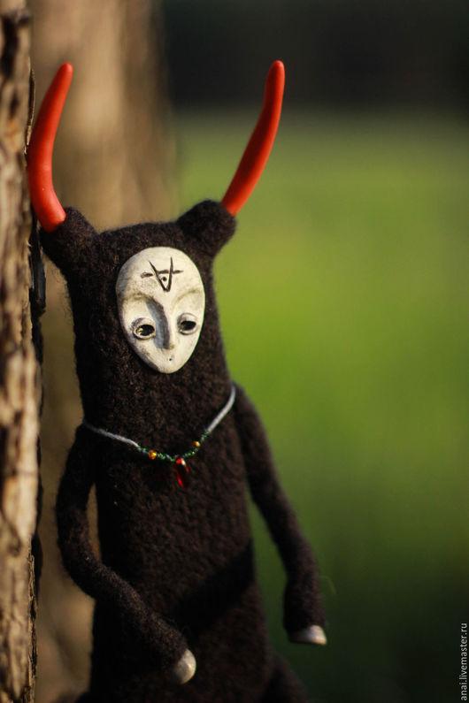 Коллекционные куклы ручной работы. Ярмарка Мастеров - ручная работа. Купить Ember,уголек. Handmade. Черный, лесной, существо, темный