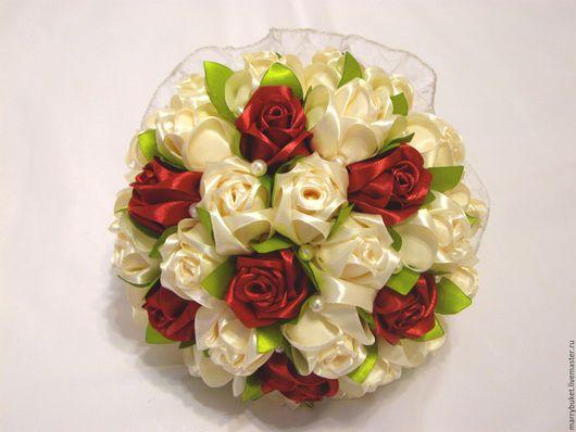 """Свадебные цветы ручной работы. Ярмарка Мастеров - ручная работа. Купить Букет невесты """"Флоренция"""" Вариант 2. Handmade. Комбинированный"""