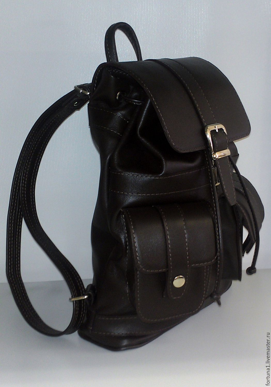 Рюкзаки ручной работы. Ярмарка Мастеров - ручная работа. Купить Рюкзак кожаный городской 74. Handmade. Рюкзак, рюкзак из кожи