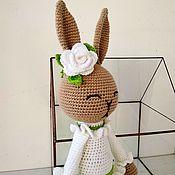 Куклы и игрушки handmade. Livemaster - original item Bunny Spring in white dress .. Handmade.