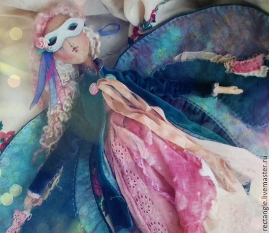 Коллекционные куклы ручной работы. Ярмарка Мастеров - ручная работа. Купить Изумрудная бабочка.Кукла.. Handmade. Тёмно-бирюзовый, шерсть