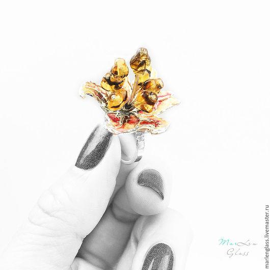 Кольца ручной работы. Ярмарка Мастеров - ручная работа. Купить Кольцо Лилия. Handmade. Комбинированный, серебряное кольцо, красивый подарок
