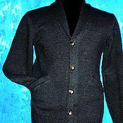 Мужская одежда handmade. Livemaster - original item Men`s jacket with a shawl collar .Yarn to choose from. Handmade.