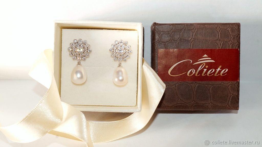 Pearl earrings 'Mother's Womb!', Earrings, Moscow,  Фото №1