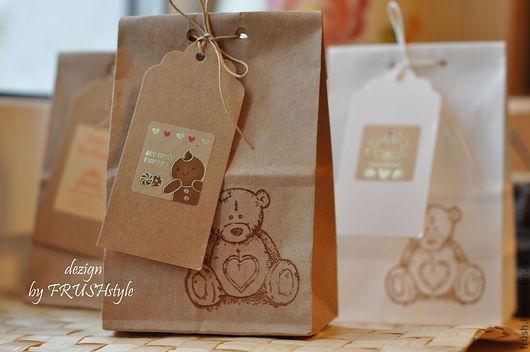 Подарочная упаковка ручной работы. Ярмарка Мастеров - ручная работа. Купить Подарочная упаковка с биркой, крафт-пакет на 1-3 мылка. Handmade.