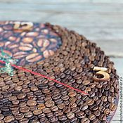 """Для дома и интерьера ручной работы. Ярмарка Мастеров - ручная работа часы настенные коричневые """"кофе и эко-гармония"""" рустик. Handmade."""