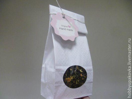 Упаковка ручной работы. Ярмарка Мастеров - ручная работа. Купить Пакет с прозрачным окном(ламинация)-упаковка чая,сладостей. Handmade. Пакет