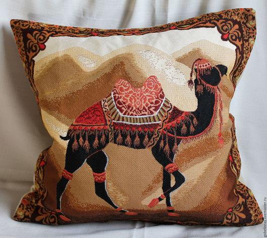 Текстиль, ковры ручной работы. Ярмарка Мастеров - ручная работа. Купить ВОСТОК ВЕРБЛЮД: гобеленовый чехол на подушку, 45-45 см. Handmade.