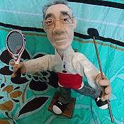 Подарки к праздникам ручной работы. Ярмарка Мастеров - ручная работа Портретная кукла на заказ по фото  -Танцор-теннисист. Handmade.