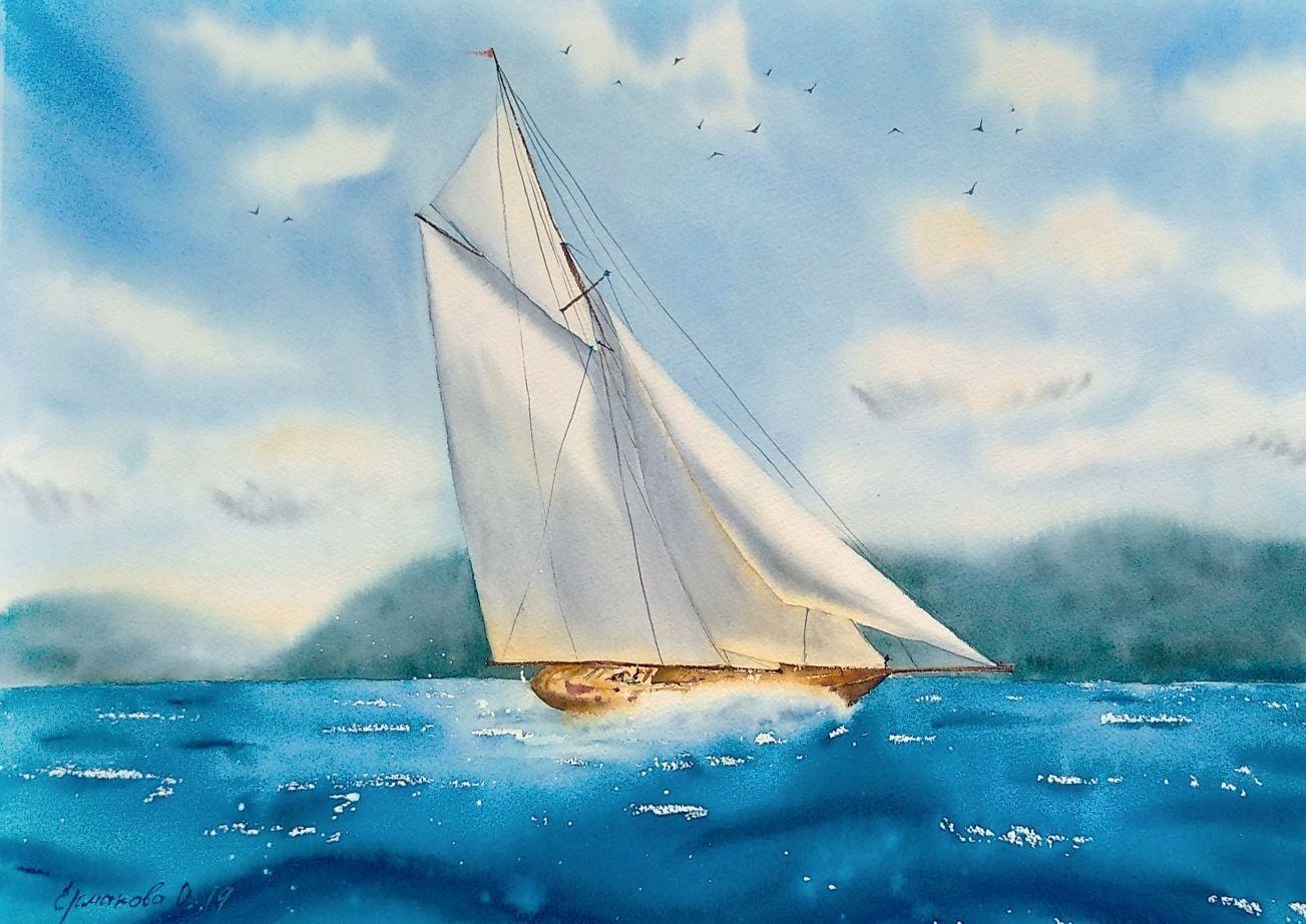 Открытки с морем и яхтами