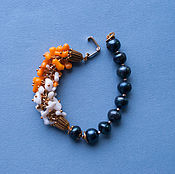 "Украшения handmade. Livemaster - original item Bracelet ""The road between cypresses"" costume jewelry from natural sto. Handmade."