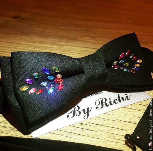 Галстуки, бабочки ручной работы. Ярмарка Мастеров - ручная работа. Купить Женская бабочка. Handmade. Черный, галстук-бабочка из ткани