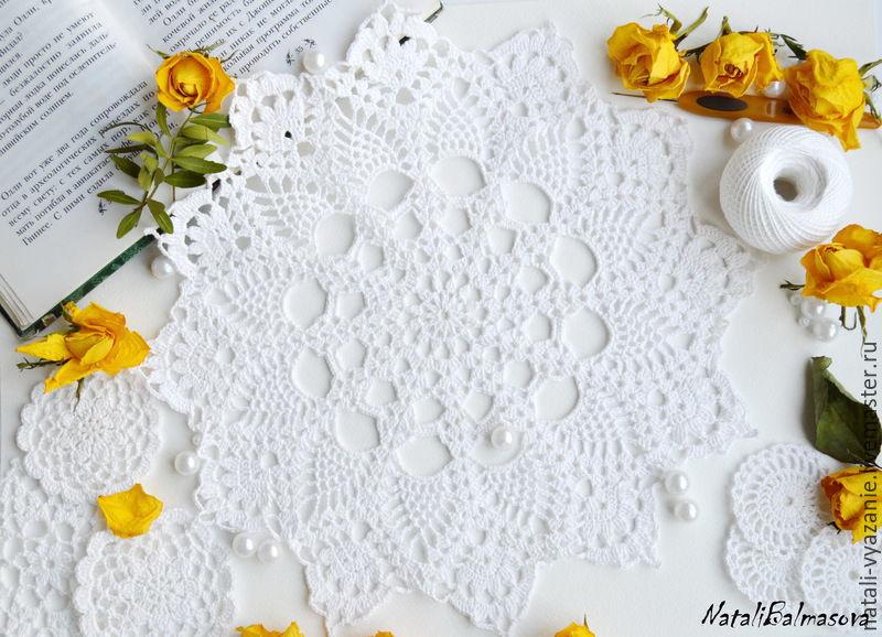 Openwork doily crochet, Doilies, Sosnovyj Bor,  Фото №1