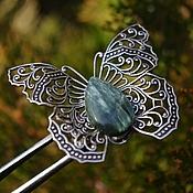 Украшения handmade. Livemaster - original item Ring silver Butterfly Green Seraphinit. Handmade.