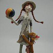 Куклы и игрушки ручной работы. Ярмарка Мастеров - ручная работа Пеппи - Длинный чулок. Handmade.
