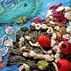 """Пейзаж ручной работы. Картина из шерсти """"Подводный сад"""". Макарова Оксана (sanzharka). Ярмарка Мастеров. Рыбки, пряжа ручного прядения"""