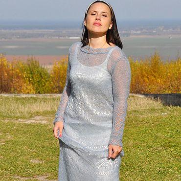 Одежда ручной работы. Ярмарка Мастеров - ручная работа Вязаное мохеровое платье из кид-мохера. Handmade.