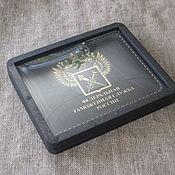 Канцелярские товары handmade. Livemaster - original item cover for identity. Leather cover. cover leather. Handmade.