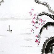 """Картины и панно ручной работы. Ярмарка Мастеров - ручная работа Картина """"Ханами"""". Handmade."""