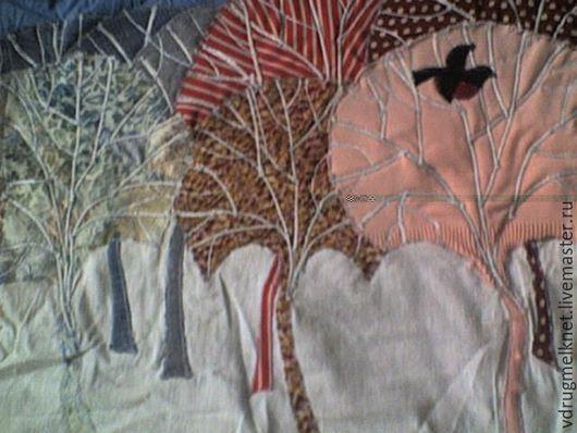 Пейзаж ручной работы. Ярмарка Мастеров - ручная работа. Купить картины текстильные. Handmade. Разноцветный, подарок мужчине, картина в детскую