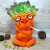 Куклы и игрушки handmade. Livemaster - original item Soft toy plush red cat Indian by Vasya Lozhkin. Handmade.