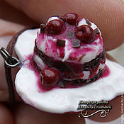 """Украшения ручной работы. Ярмарка Мастеров - ручная работа Кулон на шнуре """"Вишнёвый десерт"""". Handmade."""