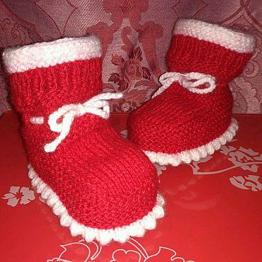 Обувь ручной работы. Ярмарка Мастеров - ручная работа Пинетки-носочки для новорождённого. Handmade.
