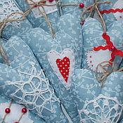 Куклы и игрушки ручной работы. Ярмарка Мастеров - ручная работа Зимние сердечки Тильда. Handmade.