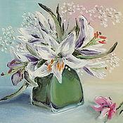 """Картины и панно ручной работы. Ярмарка Мастеров - ручная работа Картина маслом """"Лилии"""" 40х60 ( лилия, лилии, цветы, букет ). Handmade."""