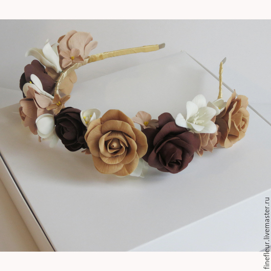 """Диадемы, обручи ручной работы. Ярмарка Мастеров - ручная работа. Купить Ободок для волос """"Сладкое ассотри"""" из самозатвердевающей глины. Handmade."""