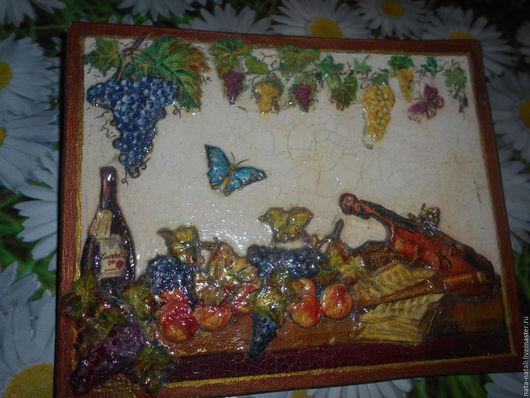 """Кухня ручной работы. Ярмарка Мастеров - ручная работа. Купить картина - панно """"В ожидании чуда"""". Handmade. Комбинированный"""