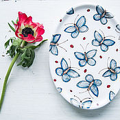 Посуда handmade. Livemaster - original item The flock flies!.. Serving dish, pottery. Handmade.