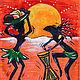 """Сумки и аксессуары ручной работы. Ярмарка Мастеров - ручная работа. Купить Подарочная сумочка для подарков """"Африканские ритмы"""". Handmade. Рыжий"""