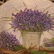 Для дома и интерьера ручной работы. Ярмарка Мастеров - ручная работа тарелка декоративная Лаванда. Handmade.