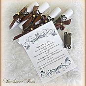 Свадебный салон ручной работы. Ярмарка Мастеров - ручная работа Пригласительные-свитки. Handmade.