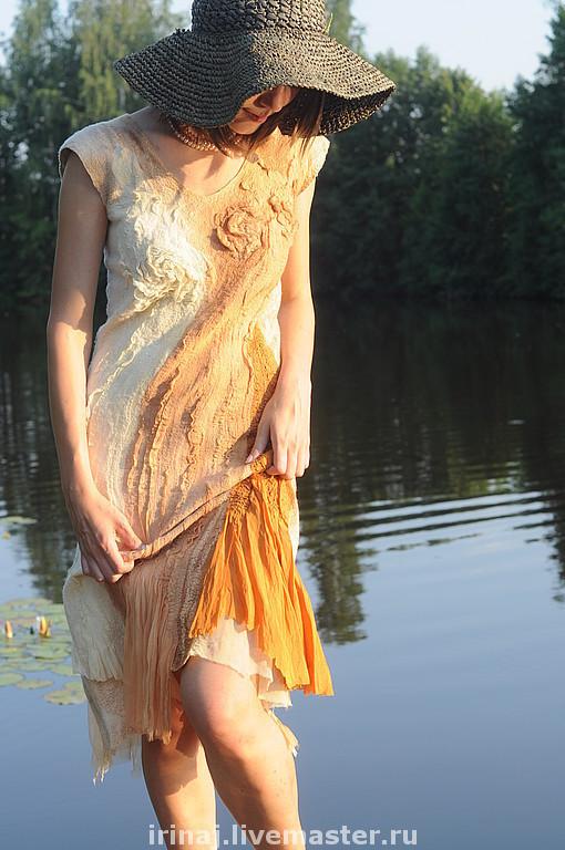 """Платья ручной работы. Ярмарка Мастеров - ручная работа. Купить валяное платье """"Мечты"""". Handmade. Платье, нуно-войлок"""